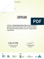 Certificado Agroecologia IFPE