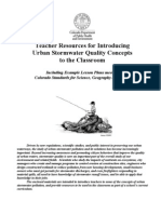Teacher Resources for Introducing Urban Stormwater Quality Concepts to the Classroom