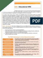 About TEACH - Educational HRD