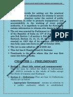 Rti Act - Short Notes - Sapost