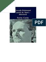 Dovada Existentei Lumii de Apoi- Aforisme Filozofice de Sorin Cerin (Romanian edition)