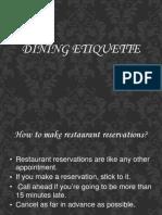 Dining Etiquett