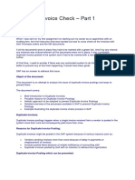 Duplicate Invoice Check Part 1