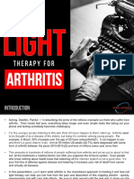 Treating Arthritis using Red Light Therapy