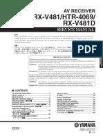 Yamaha Htr-4069 Rx-V481 v481d Service En