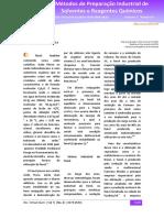 Métodos de Preparação Industrial de Solventes e Reagentes Químicos