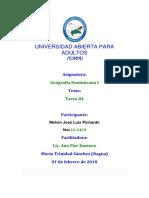 TAREA No IV Geografía Dominicana I