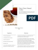 Chewy Cherry-Oatmeal Cookies Recipe & Video _ Martha Stewart