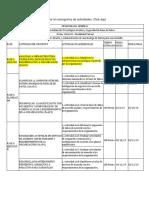 Cronograma Programa Especialización Tecnológica Gestión y Seguridad de Base de Datos