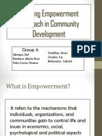 Applying Empowerment Approach in Community Development