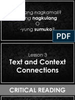 Text and Context Connection