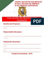 Manual Para La Formulación y Evaluación de Proyectos de Inversión formato
