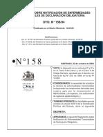 DECRETO 158 Enfermedades de Notificación Obligatoria