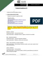 Enunciado Producto académico N°1- Sociología