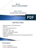 May 2019 Personality Development Asignment Guidelines
