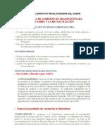 PROGRAMA - FUERZA ALTERNATIVA REVOLUCIONARIA DEL COMÚN