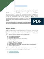 Generalidades y Fines Del Registro Mercantil