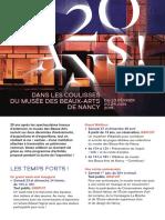 Programme-expo2019 -20-Ans-musée Des Beaux Arts Nancy