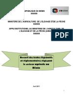 Recueil des textex legislatifs et reglementaires du secteur agricole au BENIN.docx