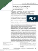Pediatric Obesity Assessment, Treatment