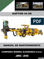 Manual de Mantenimiento Raptor 44-2r Jmc-250