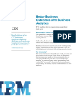 Better Business Outcomes With Business Analytics