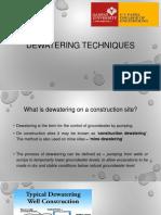Dewatering Techniques