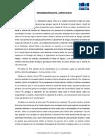 Programación Del Libro FOL 2019-20