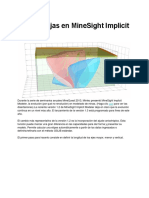 Más Ventajas en MineSight Implicit Modeler