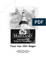 Fiscal Year 2031 Budget Document