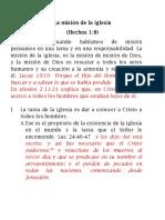 1. La Misión de La Iglesia