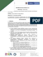 RELATORIA FALLO 22, Sentencia Carlos Castillo v. Manolo Cruz