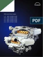 SM--MAN Marine Diesel Engine V8-900 V10-1100
