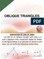 Lesson 9 - Oblique Triangles.ppt
