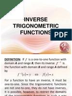 Lesson 7 - Inverse Trigonometric Functions.ppt