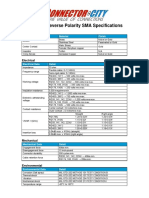 SMA and Reverse Polarity SMA Specifications[1]