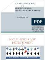 Role of Social Media on Recruitment.