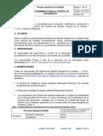 GC-P01 Procedimiento Control de Documentos v6