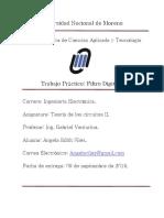 Trabajo Practico de Teoria II filtro digital pasabanda