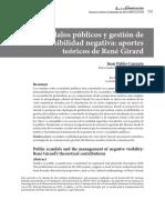 Escándalos públicos y gestión de la visibilidad negativa