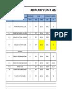 12.Primary Pump Head Calculation