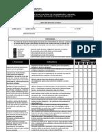 Fichas de Evaluación de Desempeño Laboral en Instituciones Educativas JEC
