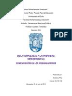 Gerencia de RRPP(de La Complejidad a La Diversidad)