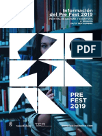 Festival Indice 2019 Pre-fest Informacion
