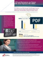 Get more I/O performance on fewer servers with Intel Optane DC SSDs - Infographic