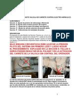 Ajuste Valvula de Carrete 7-11 Spool Control Electrohidraulico