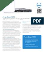 LA FY16Q3 378 Dell PowerEdge R230 SpecSheet 102015 ES XL