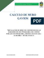 Calculo de Muro Gavion