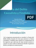 Presentacion de Teoría Del Delito Causalista y Finalista