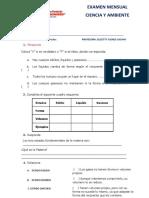 Ciencia y Ambiente Examen Mensual 3 y 4 III Bimestre